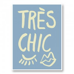Tres Chic Blue Wall Art Print