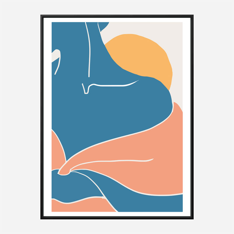 Blue Shoulder Wall Art Print