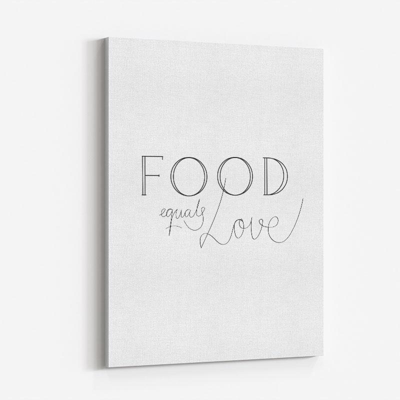 Food is Love Wall Art Print
