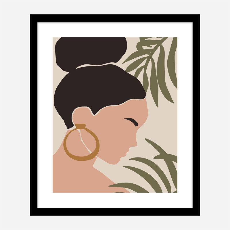 Boho Lady One Art Print
