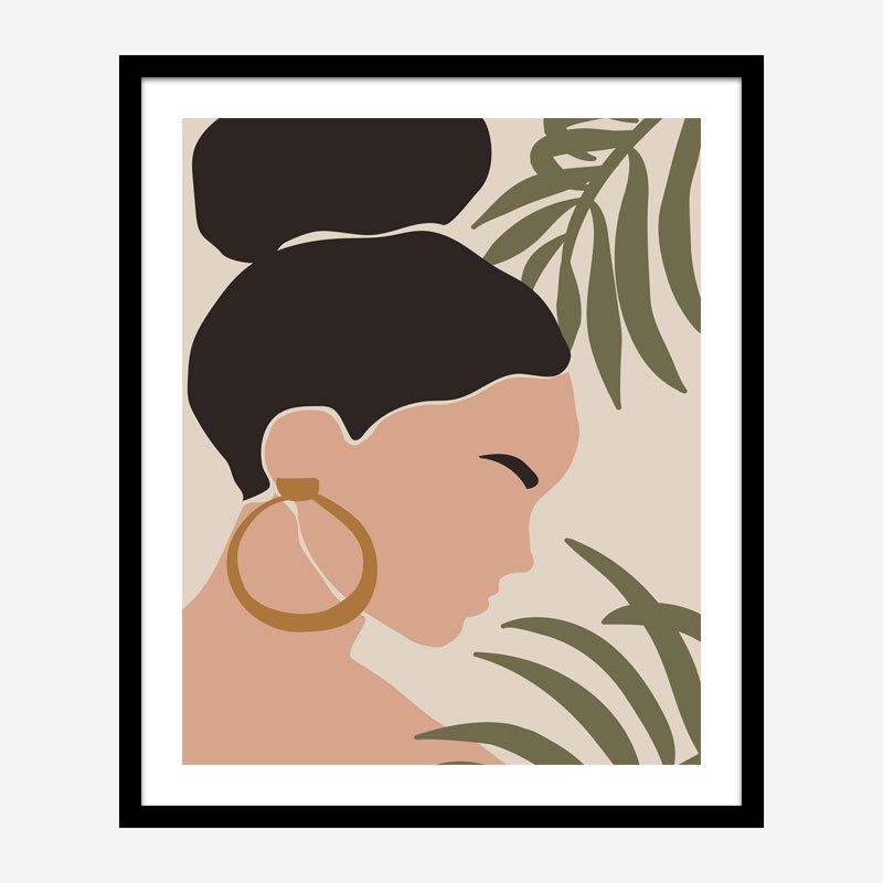 Boho Lady One Art Print
