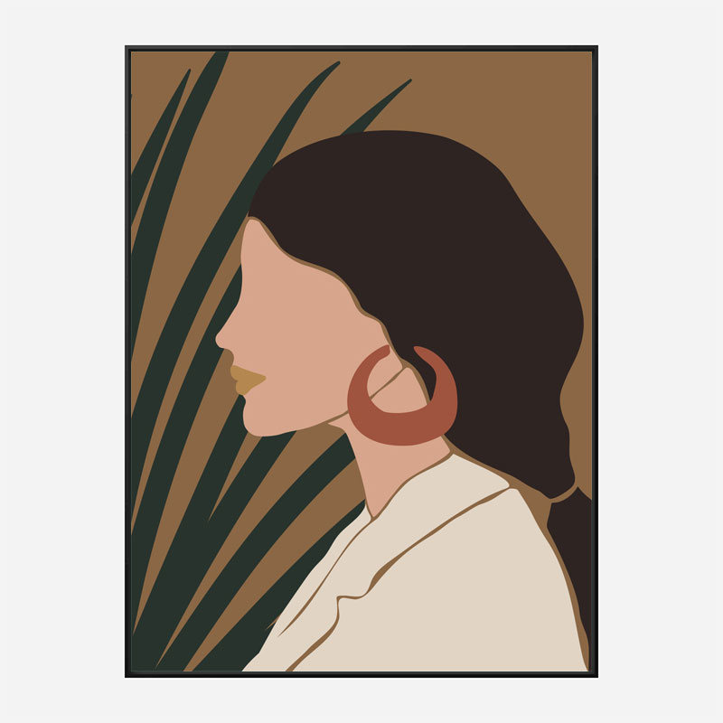 Boho Lady Two Art Print