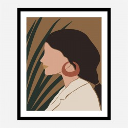 Boho Lady Two Art Print