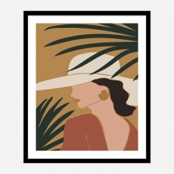 Boho Lady Three Art Print