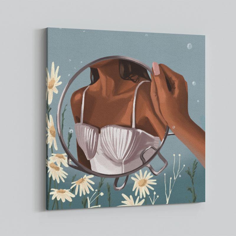 Mermaid in the Mirror Art Print