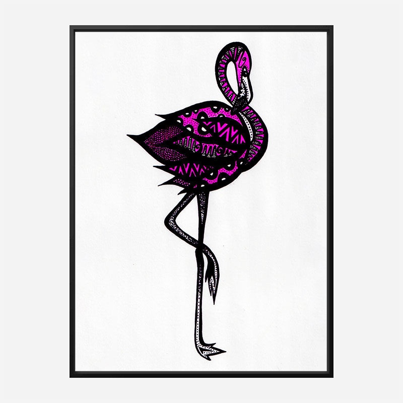 Bingo The Flamingo Art Print