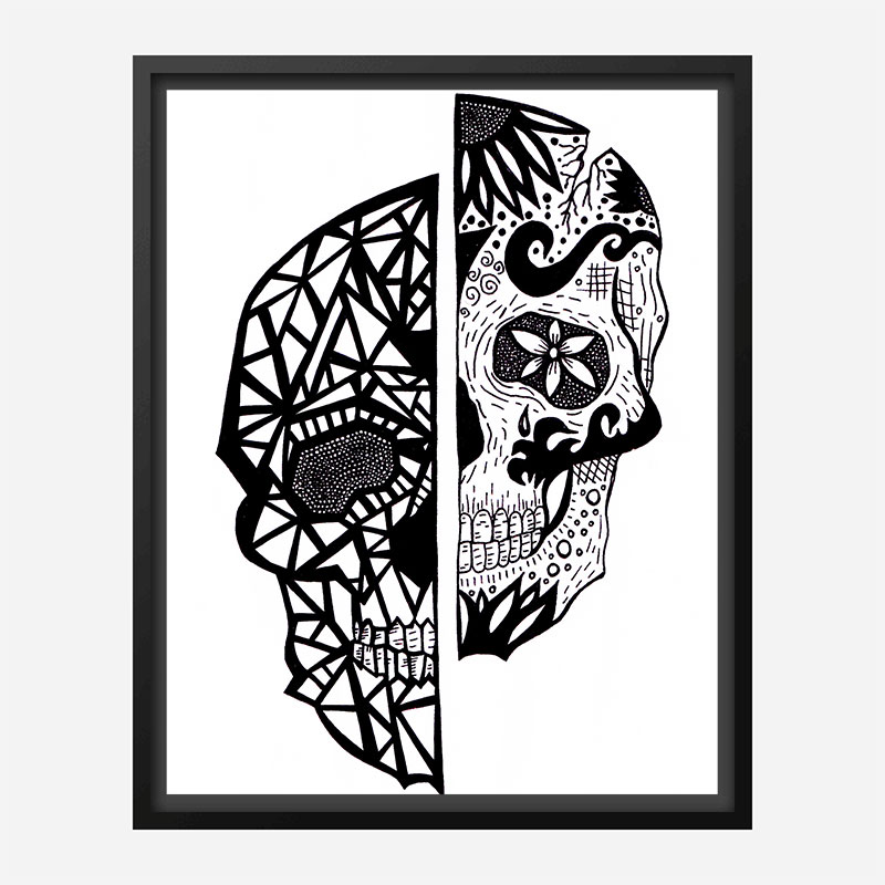 Two Faces Art Print