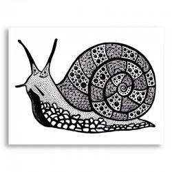 Turbo the Snail Art Print
