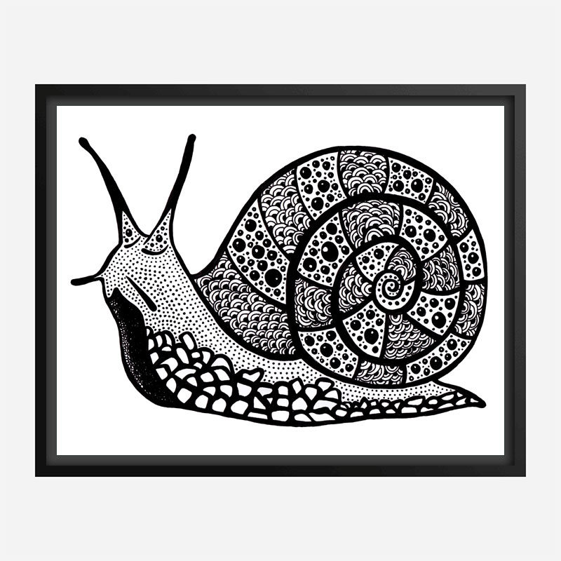 Turbo the Snail Art Print