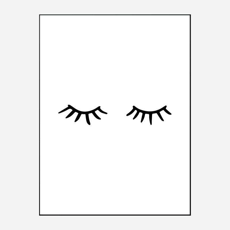 Eye Lashes Art Print