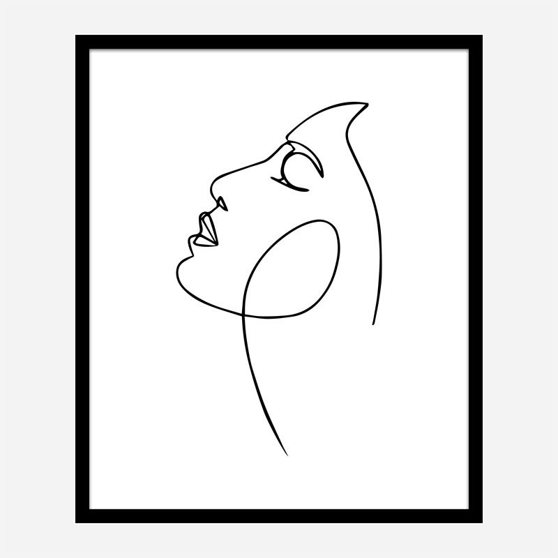 The Face Line Art Print
