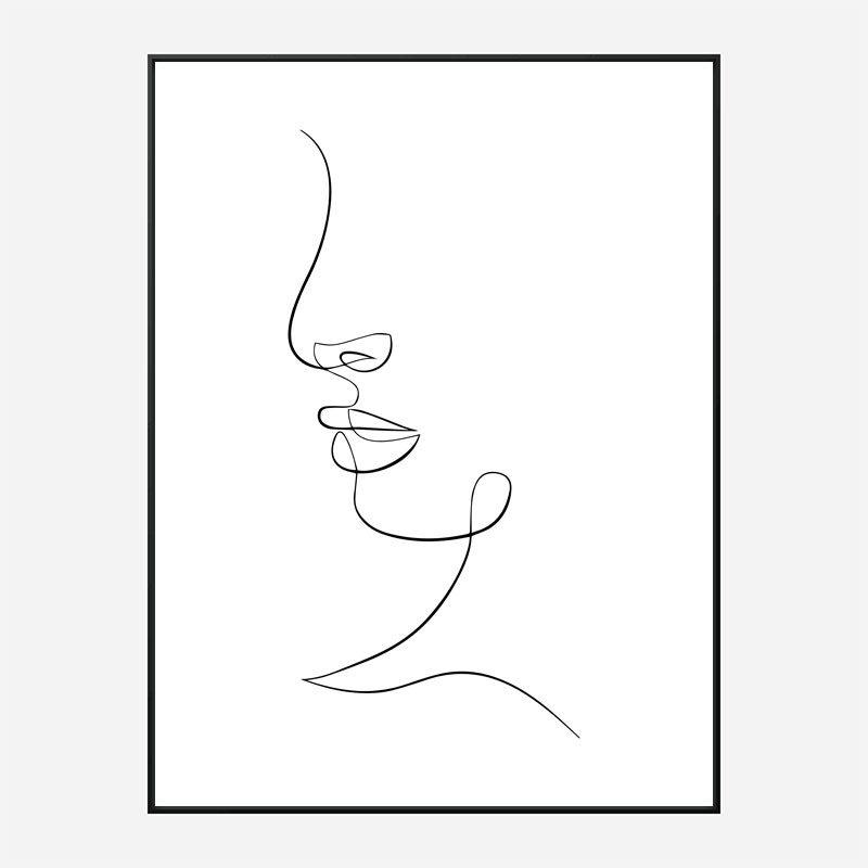 Face Lines Art Print