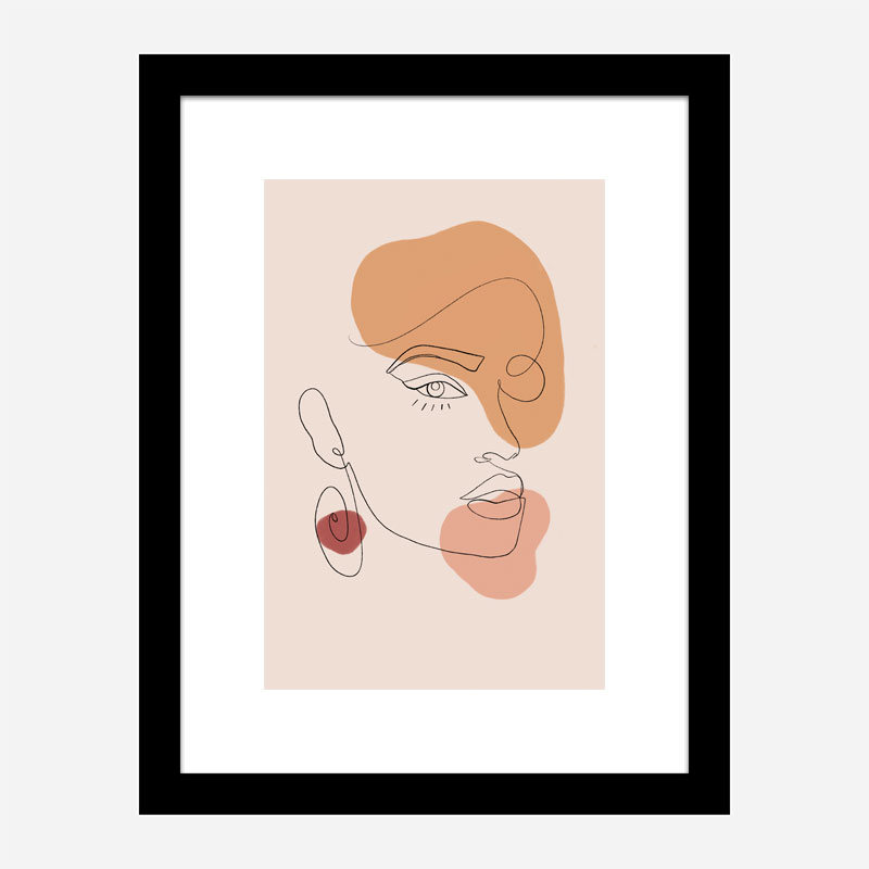Portrait Line Art Print