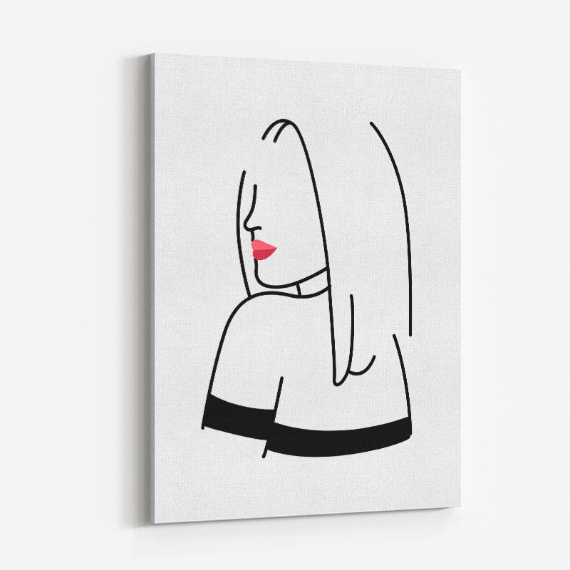 Lady of Fashion 4 Line Art Print