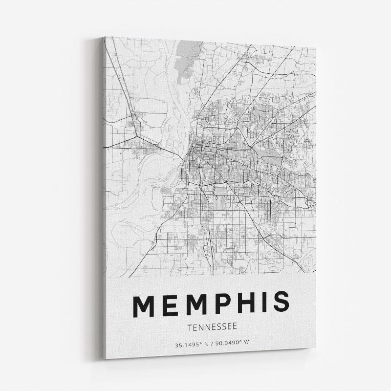 Memphis Tennessee City Map Art Print