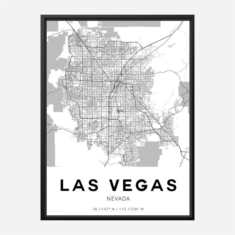 Las Vegas Nevada City Map Art Print