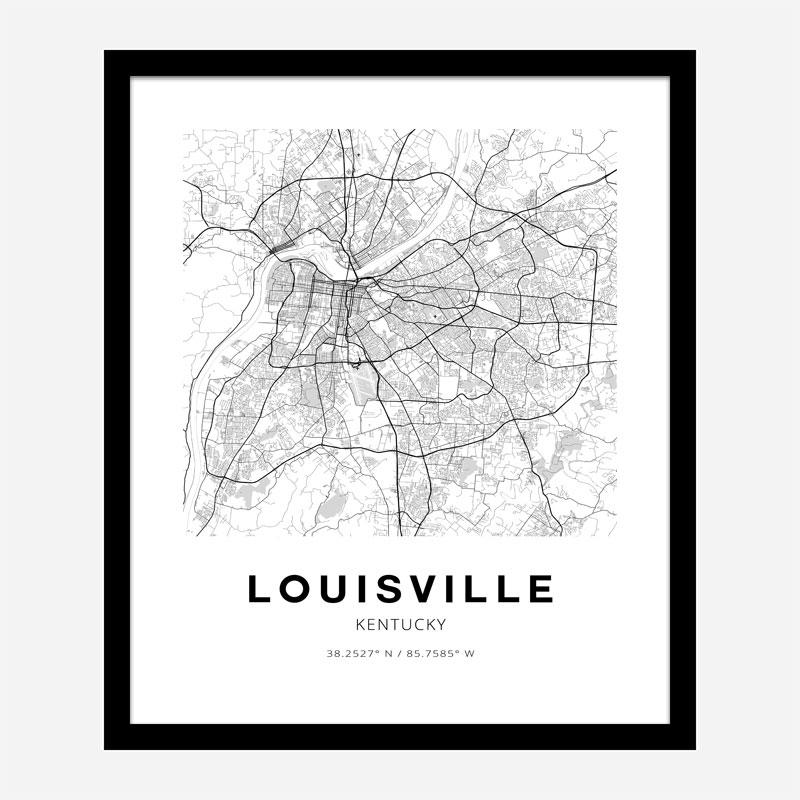Louisville Kentucky City Map Art Print