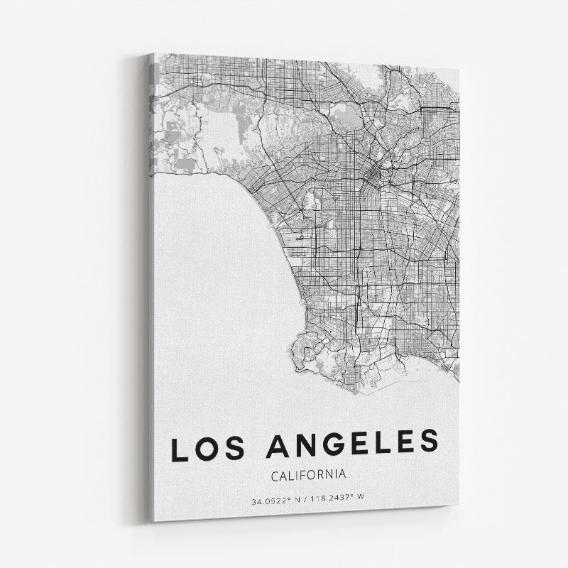 Los Angeles California City Map Art Print