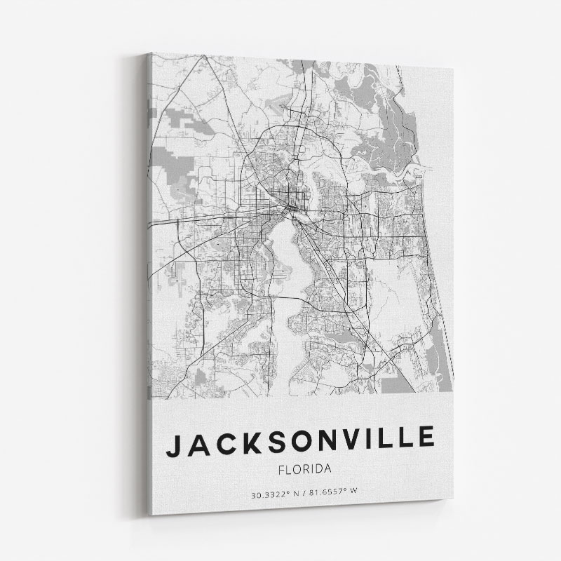 Jacksonville Florida City Map Art Print