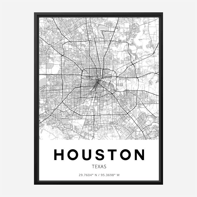 Houston Texas City Map Art Print