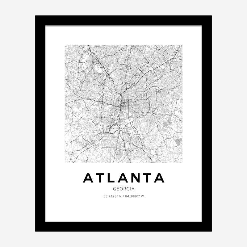 Atlanta Georgia City Map Art Print