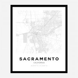 Sacramento California City Map Art Print