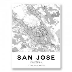 San Jose California City Map Art Print