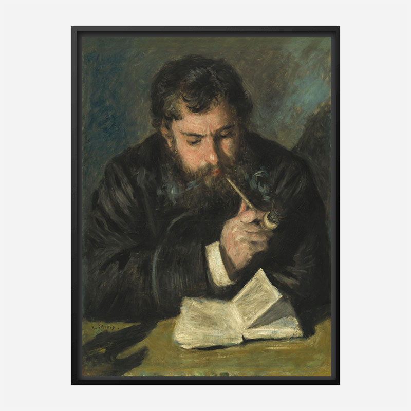 Auguste Renoir by Claude Monet Art Print