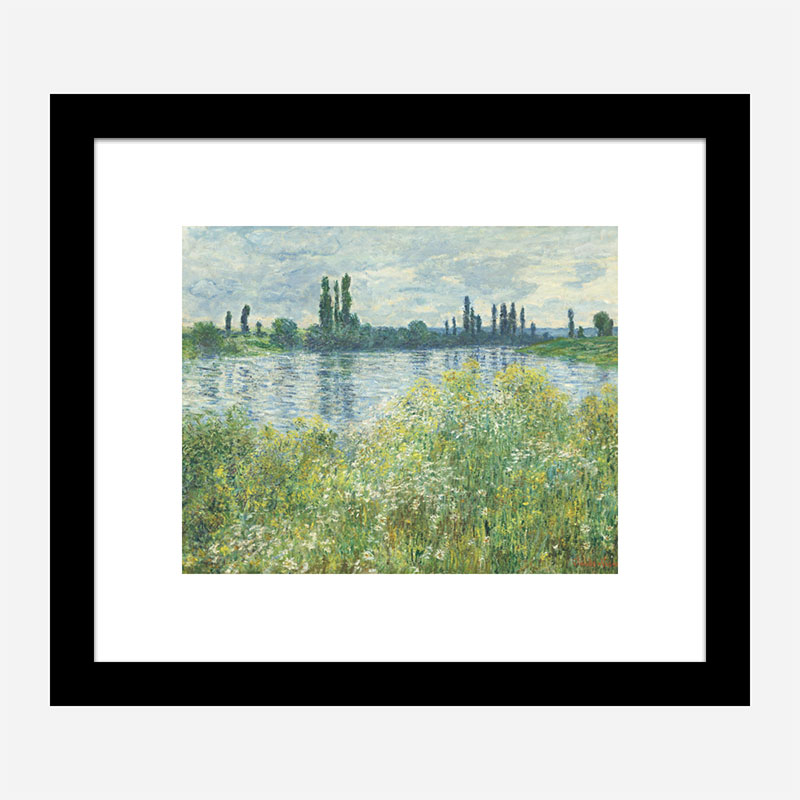 Banks of the Seine by Claude Monet Art Print