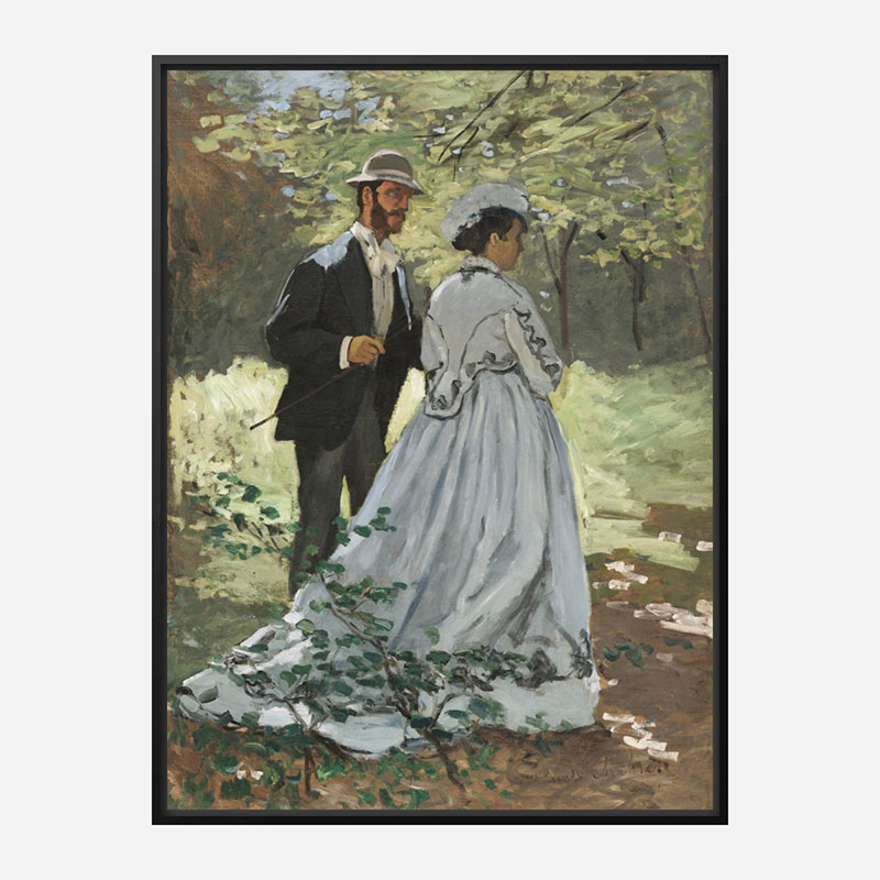 Bazille and Camille by Claude Monet Art Print