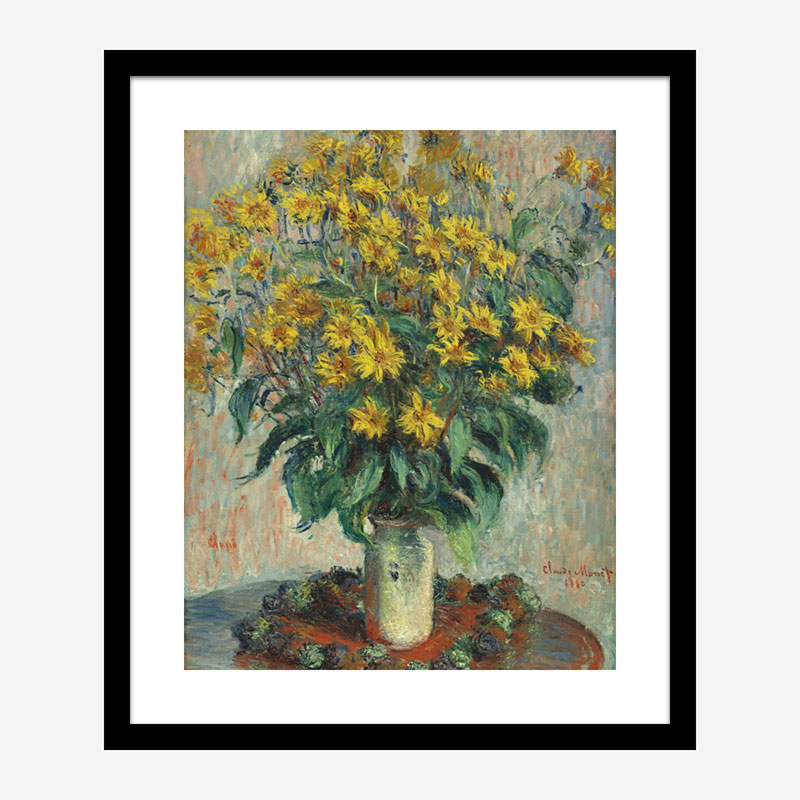 Jerusalem Artichoke Flowers by Claude Monet Art Print