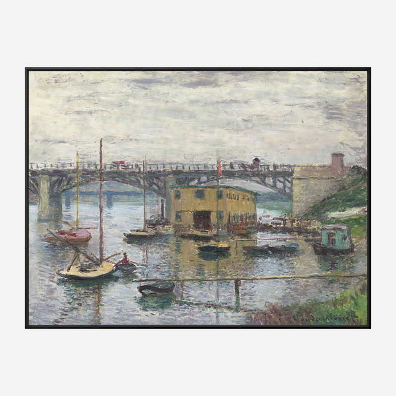 Bridge at Argenteuil on a Gray Day by Claude Monet Art Print