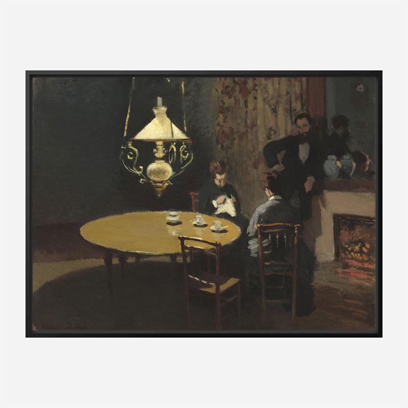 Interior after Dinner by Claude Monet Art Print