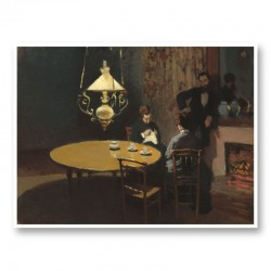 Interior after Dinner by Claude Monet Art Print