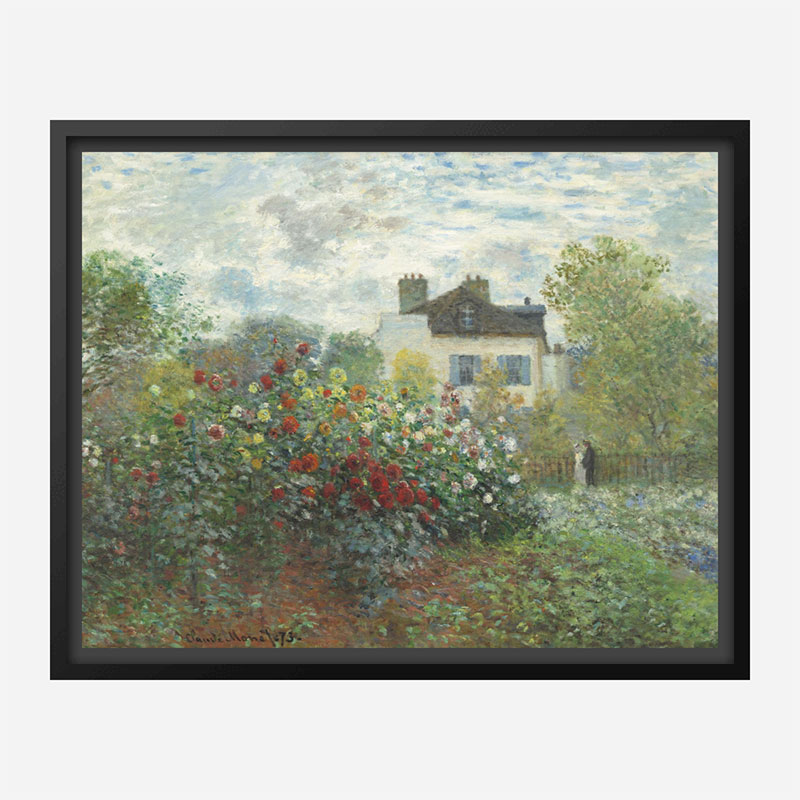 The Artists Garden in Argenteuil by Claude Monet Art Print