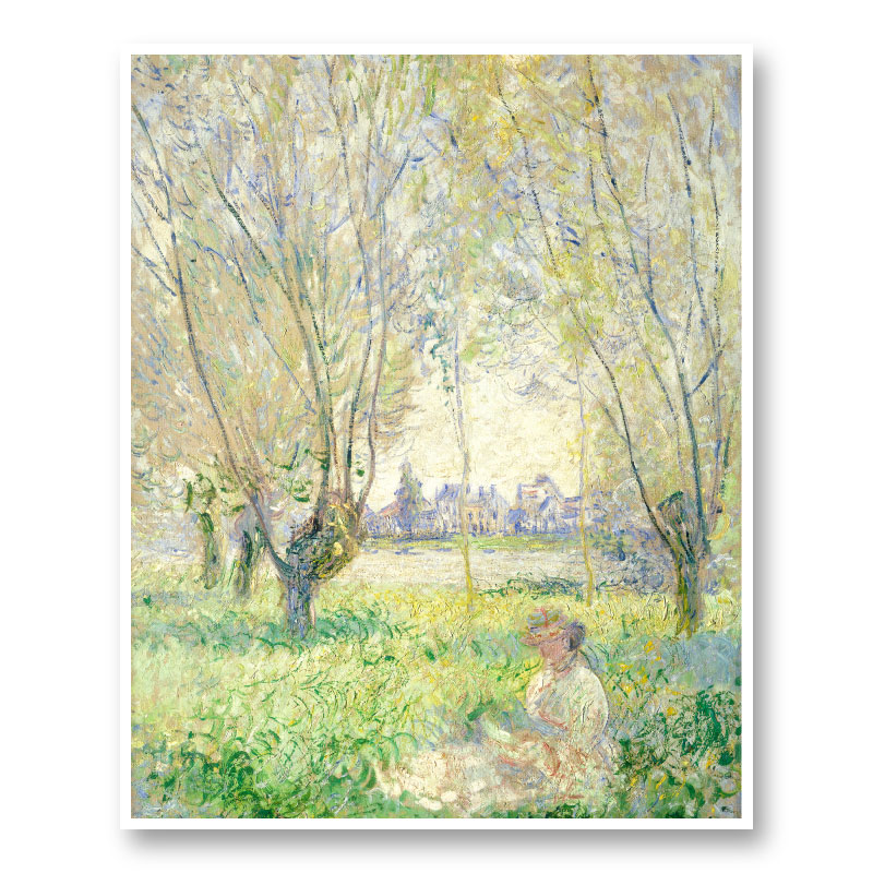 Woman Seated under the Willows by Claude Monet Art Print