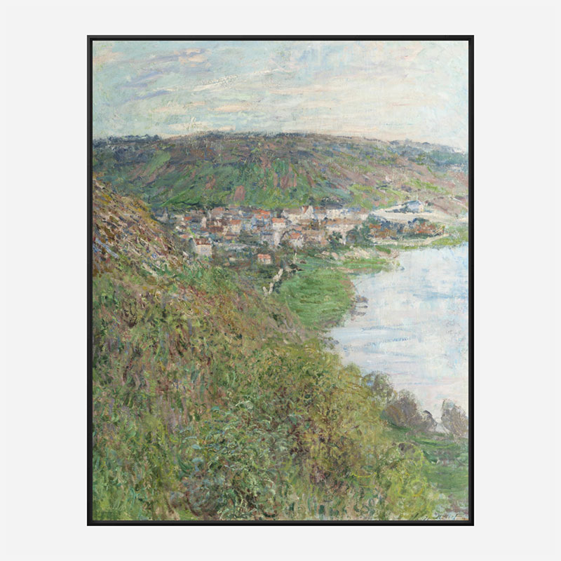 View of Vetheuil by Claude Monet Art Print