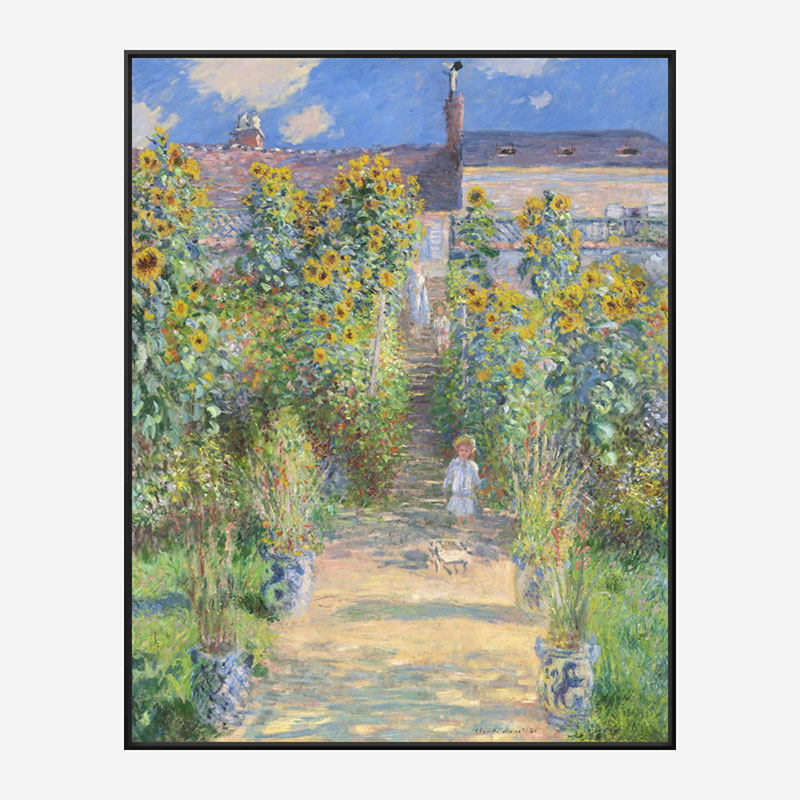 The Artist's Garden at Vetheuil by Claude Monet Art Print
