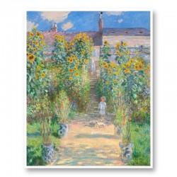 The Artist's Garden at Vetheuil by Claude Monet Art Print