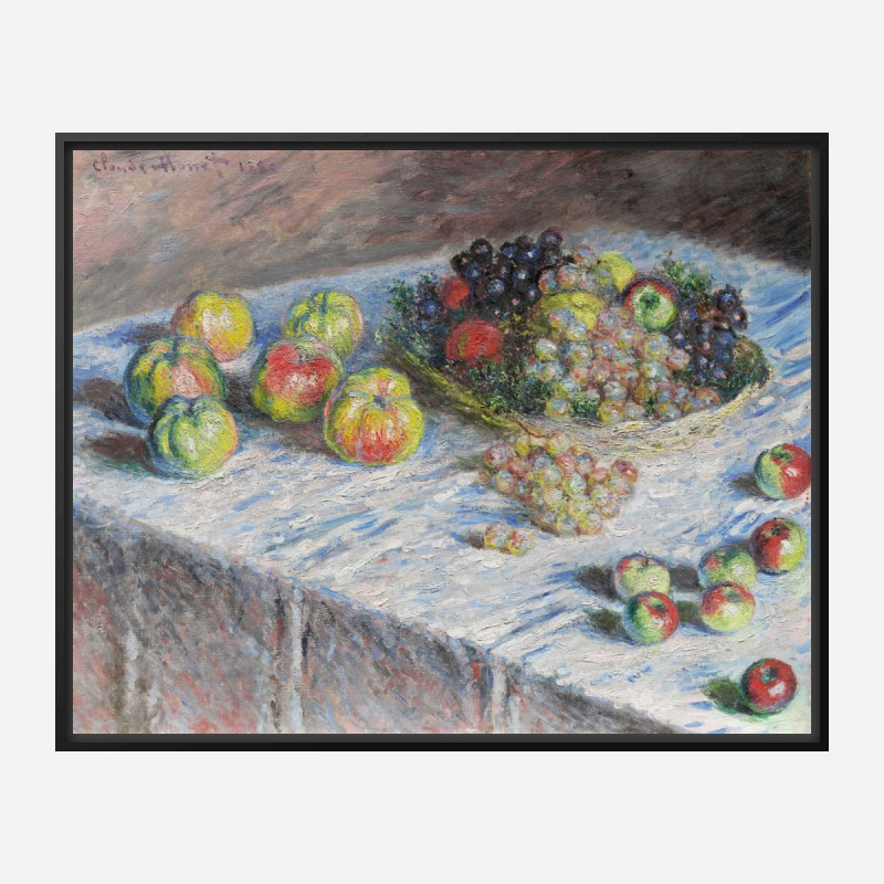 Apples and Grapes by Claude Monet Art Print