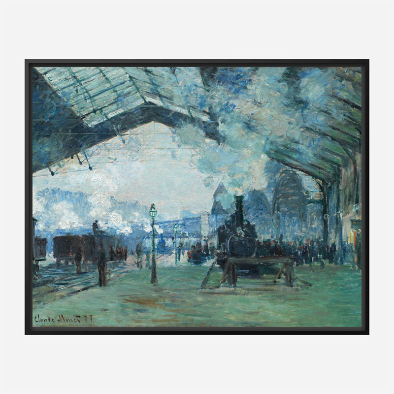 Arrival of the Normandy Train by Claude Monet Art Print