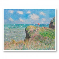 Cliff Walk at Pourville by Claude Monet Art Print