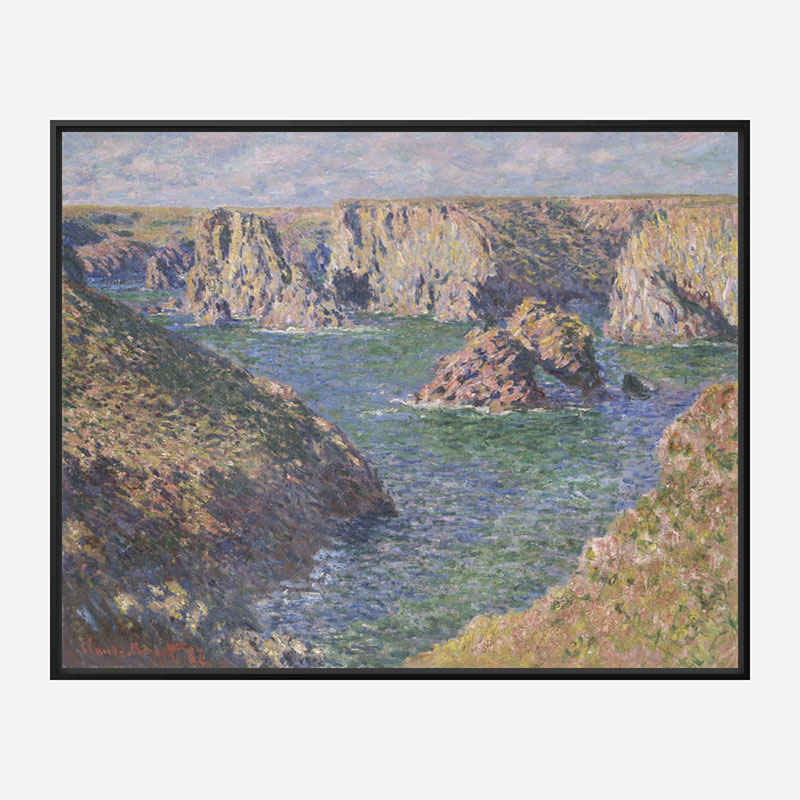 Port Domois Belle Isle by Claude Monet Art Print
