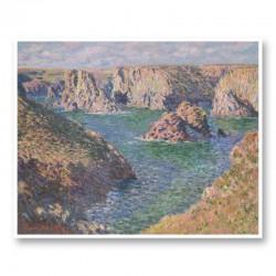 Port Domois Belle Isle by Claude Monet Art Print