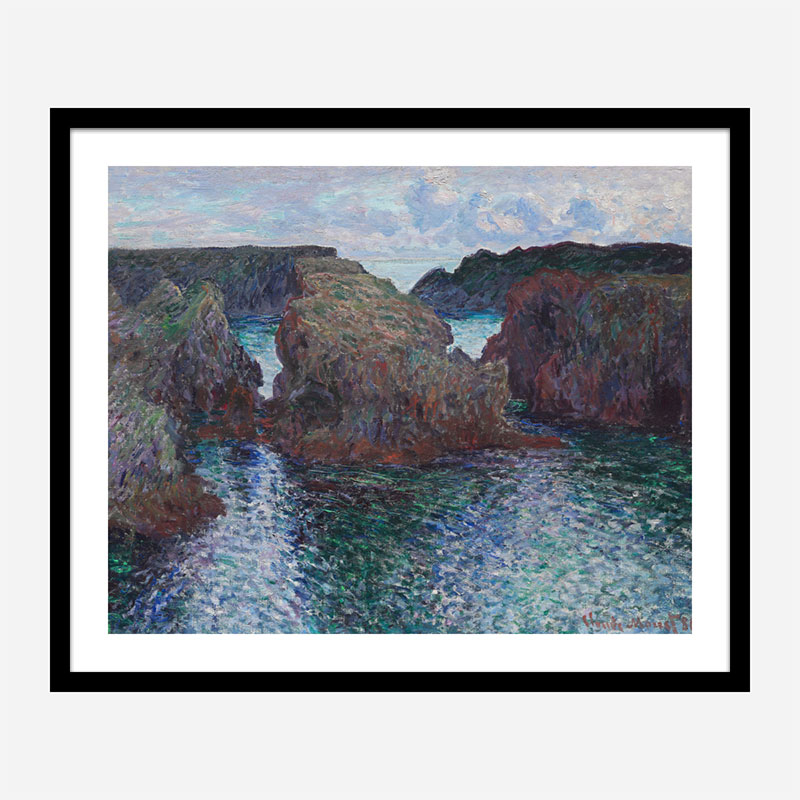 Rocks at Port Goulphar by Claude Monet Art Print