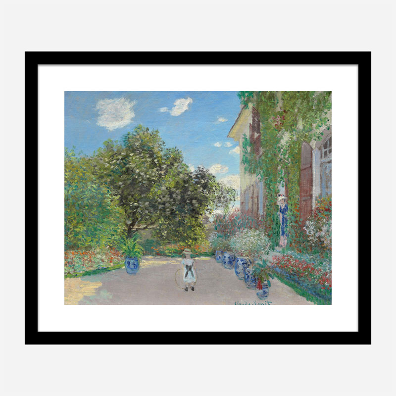The Artists House at Argenteuil by Claude Monet Art Print