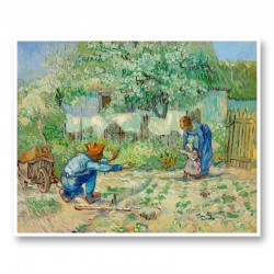 First Steps after Millet by Vincent Van Gogh Art Print