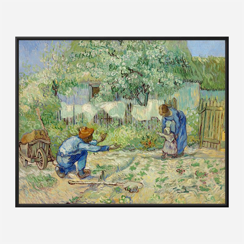 First Steps after Millet by Vincent Van Gogh Art Print