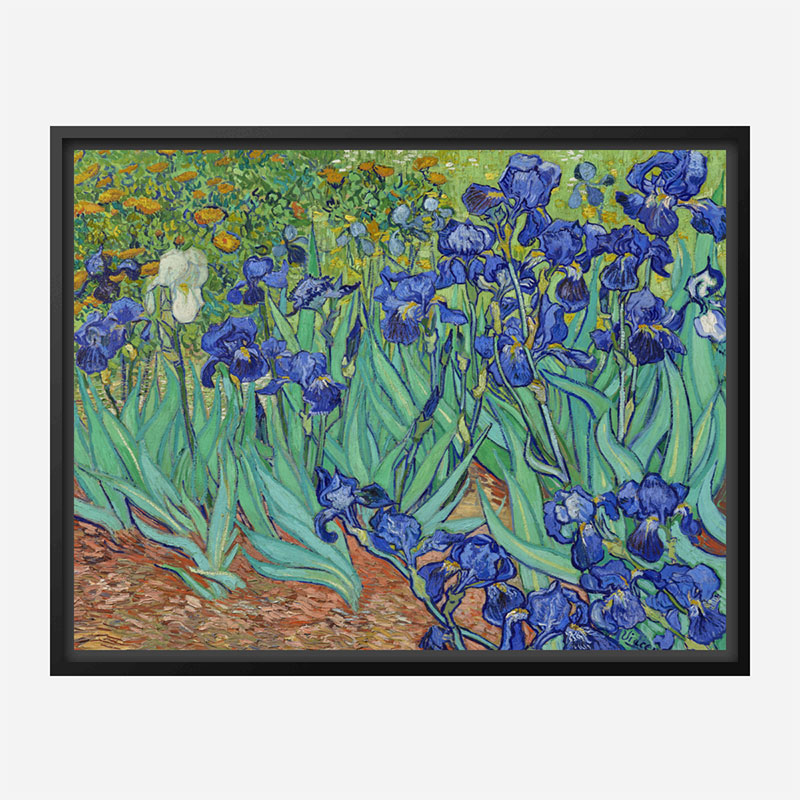 Irises 1889 by Vincent Van Gogh Art Print
