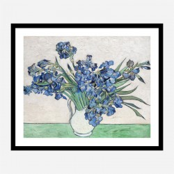 Irises 1890 by Vincent Van Gogh Art Print